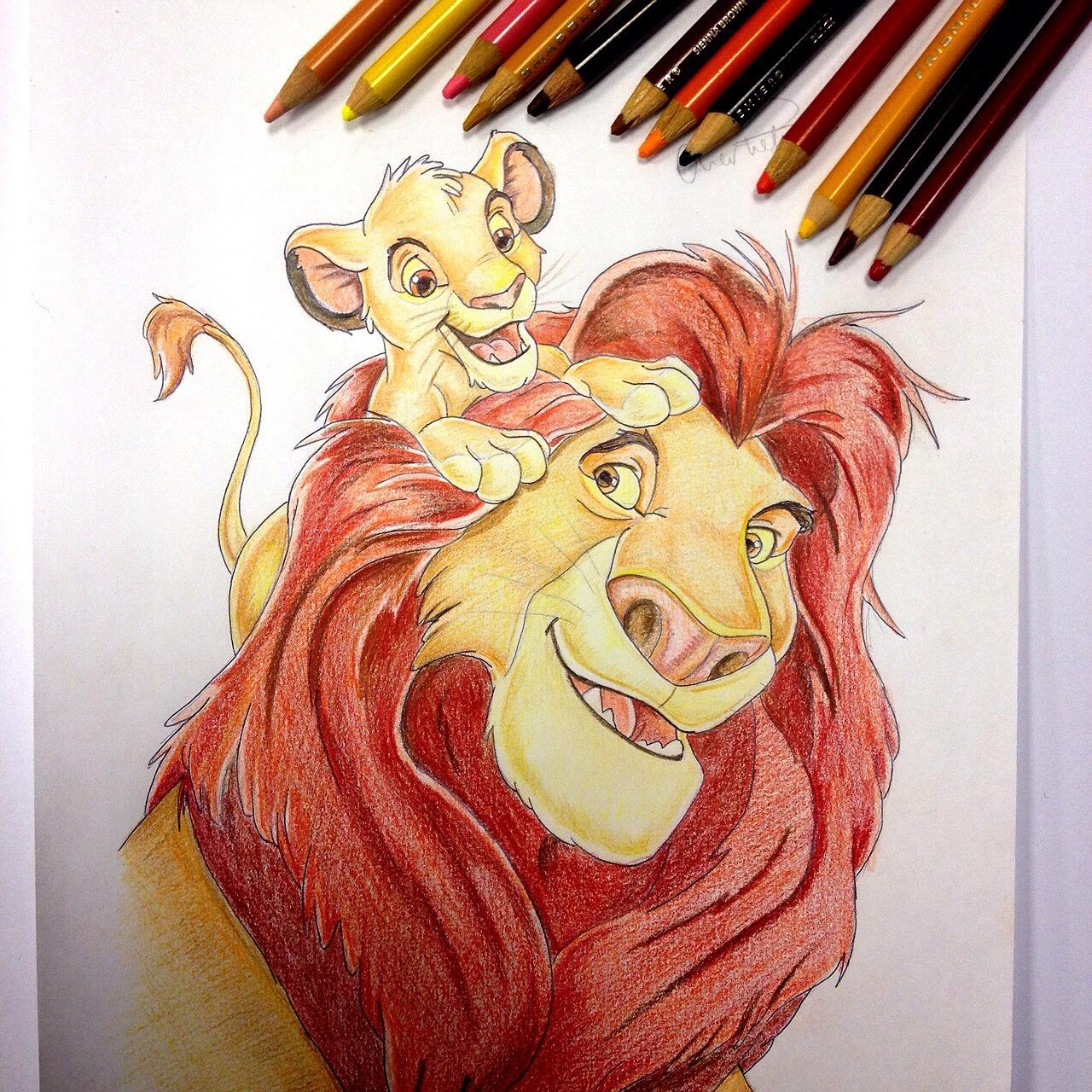 король лев рисунок цветной запрос кавычки