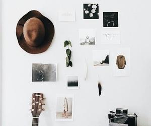 guitar, tumblr, and hat image