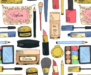 cosmetic, makeup, and patterns image