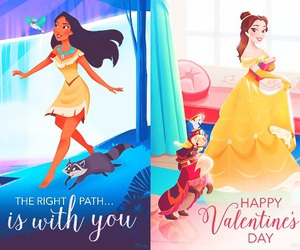 beauty and the beast, disney, and pocahontas image