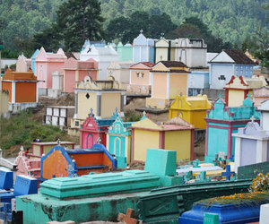 cemetry and colourful cities image
