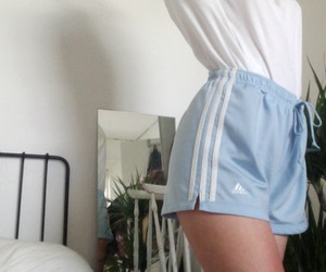 adidas, baby blue, and blue image