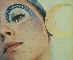 1970s, glitter, and makeup image