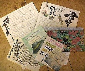 flowers, Letter, and nature image