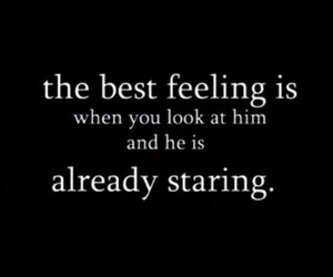 love, quotes, and staring image