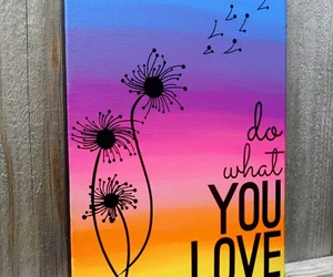 art, love, and colors image