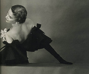 vintage, black and white, and fashion image