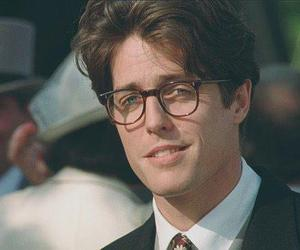 hugh grant, glasses, and handsome image