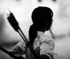 archery and b&w image