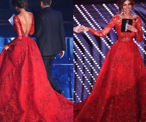 red dress, wedding dress, and gown ball dress image