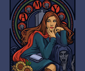 amy, doctor who, and illustrations image
