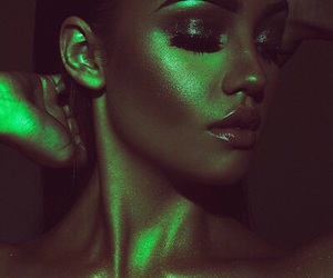 green, beauty, and makeup image