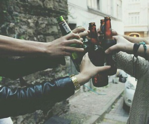 friends, beer, and grunge image