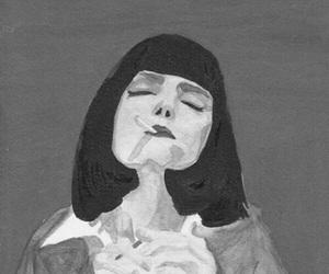 art, pulp fiction, and smoke image