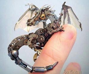 dragon, metal, and tiny image