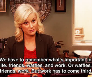 waffles, parks and rec, and parks and recreation image