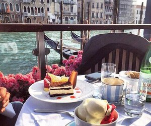 food, luxury, and venice image