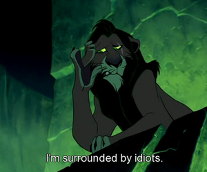 idiot, scar, and disney image