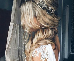 bride, hair, and wedding day image