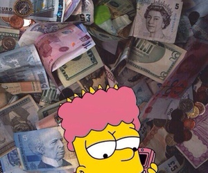 money, simpsons, and wallpaper image