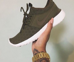 nike, sneakers, and army green image