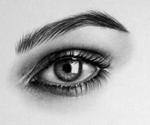 eye and black and white image