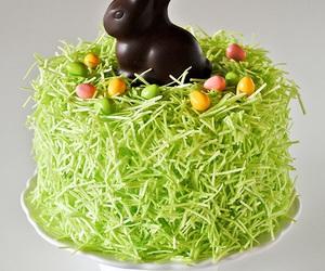 easter, cake, and chocolate bunny image
