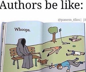 books, authors, and funny image