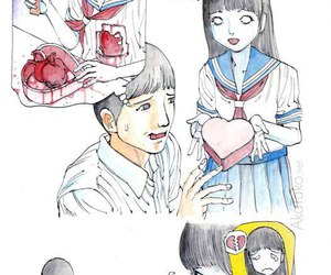 heart, manga, and love image