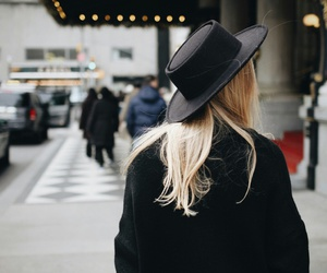 fashion, black, and hat image