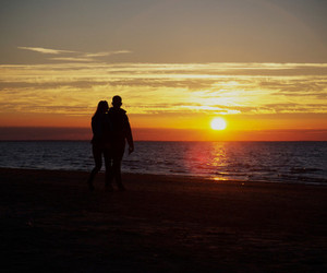 couples, riga, and sunrise image