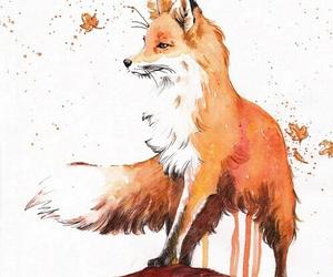 fox, art, and animal image
