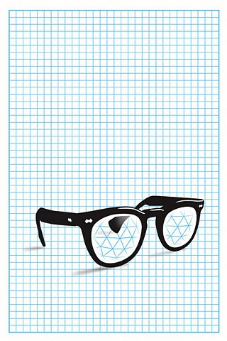 glasses and graphic design image