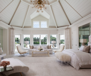 bed, dream home, and home decor image