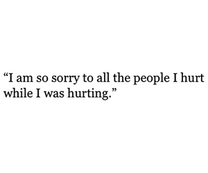 quotes, hurt, and sorry image