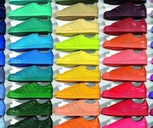 shoes, adidas, and colors image