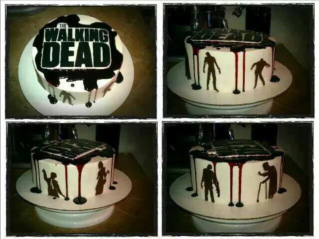 Excellent Torta De The Walking Dead On We Heart It Funny Birthday Cards Online Alyptdamsfinfo