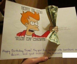 funny, money, and card image