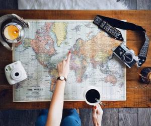 adventure, camera, and coffe image