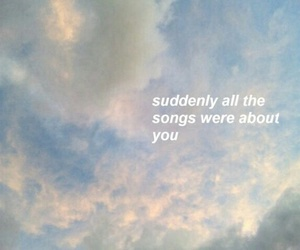 quotes, song, and sky image