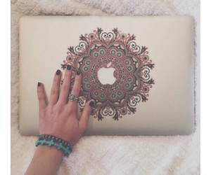 apple, macbook, and nails image