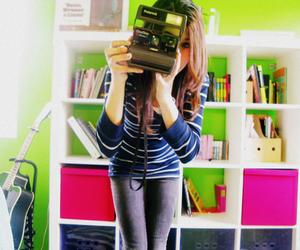 camera, girl, and photography image