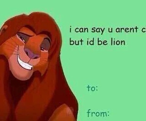 funny, valentine, and lion king image