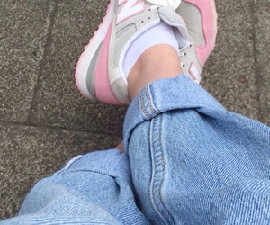 jeans, pink, and tumblr image
