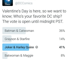 harley quinn, the joker, and Valentine's Day image