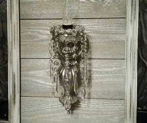 shabby chic chandelier, crystal sconce, and vintage light fixture image