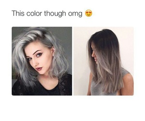 color, gray, and hair image