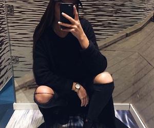 beaut, black, and black jeans image