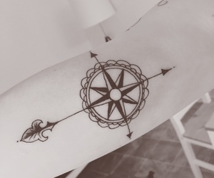 arrows, compass, and girl image