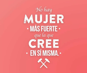 frases, mujer, and fuerte image